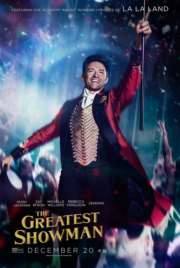 Hugh Jackman leads the cast of The Greastest Showman.