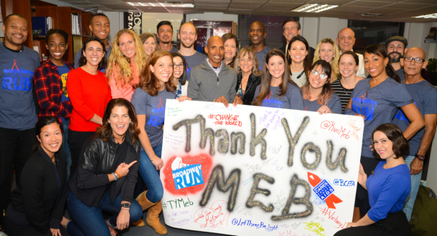Meb Keflezighi and the Broadway Run team.