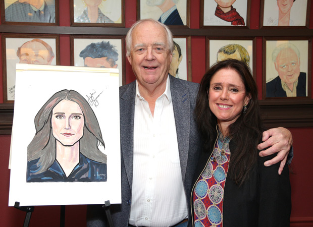 The Lion King lyricist Tim Rice was happy to see Julie Taymor for her big celebration.