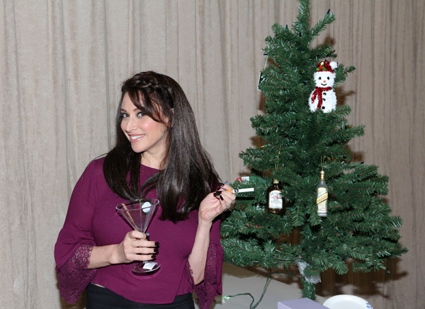 Lesli Margherita gets into the Cchristmas spirit for Who's Holiday!, directed by Carl Andress, at the Westside Theatre..