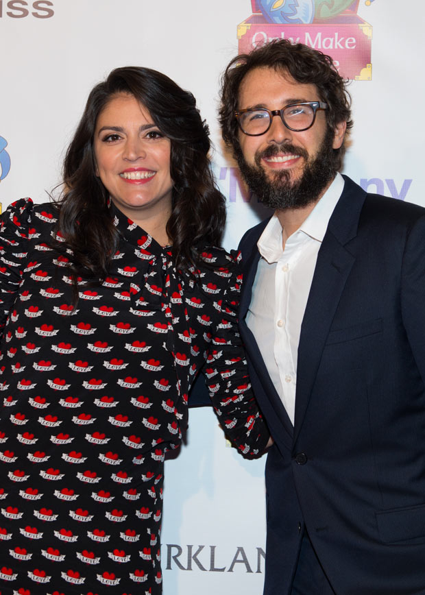 Cecily Strong hosted the Make Believe on Broadway gala honoring Josh Groban at the Schoenfeld Theatre.