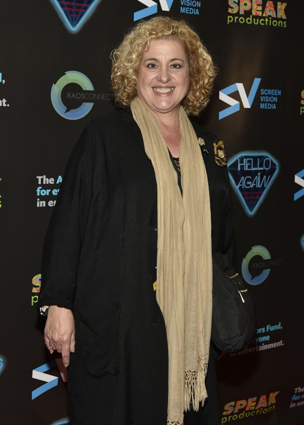 Mary Testa walks the red carpet at the premiere of Hello Again.