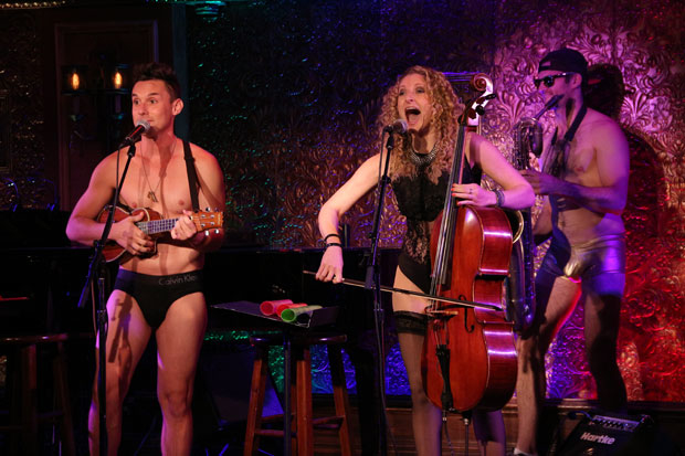 The Skivvies, a musical duo that includes Nick Cearley (left) and Lauren Molina (on cello), will perform another concert after the November 14 performance of Desperate Measures, which features Molina in the cast.