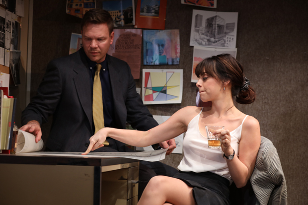 Ben (Jim Parrack) and Eliza (Krysta Rodriquez) go over some plans in What We're Up Against.