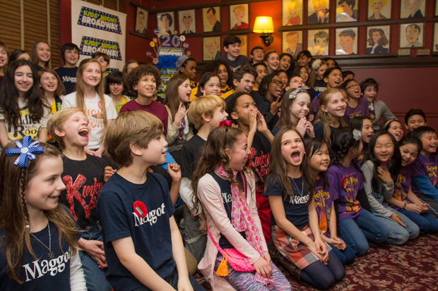 Children from various Broadway shows came together for the 2016 Kids' Night on Broadway.