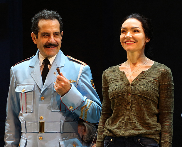 Tony Shalhoub and Katrina Lenk take their bow as The Band's Visit opens on Broadway.