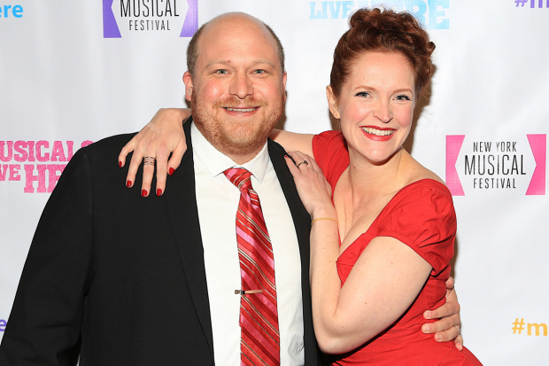 The hosts of NYMF's 2017 gala: Jason SweetTooth Williams and Grace McLean.