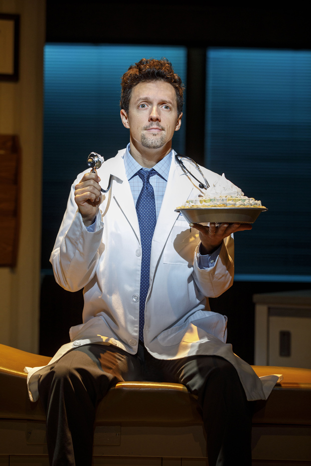 Jason Mraz as Dr. Pomatter in Waitress.  Jason Mraz