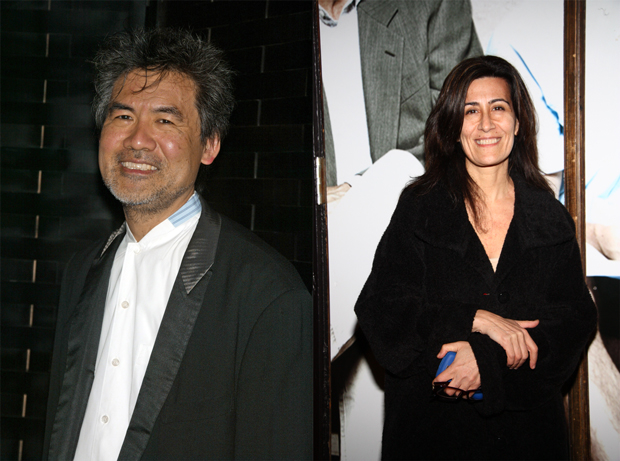 David Henry Hwang (left) will be collaborating with Jeanine Tesori (right) on Soft Power, to receive its world premiere in Los Angeles next year.