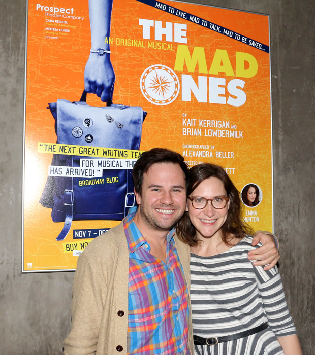 Brian Lowdermilk and Kait Kerrigan at 59E59 Theaters.