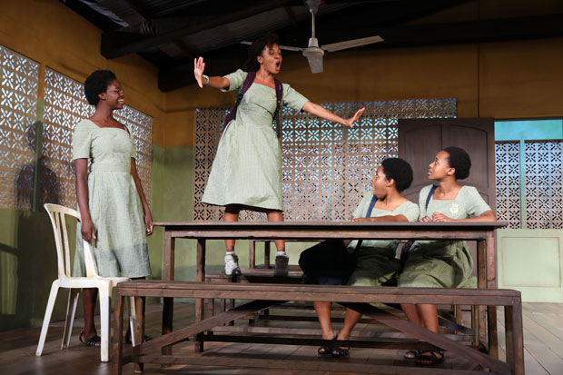 School Girls; Or, the African Mean Girls Play features Nike Kadri, Nabiyah Be, Paige Gilbert, and Mirirai Sithole.
