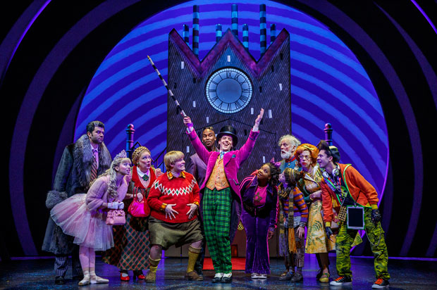 A scene from Charlie and the Chocolate Factory on Broadway.