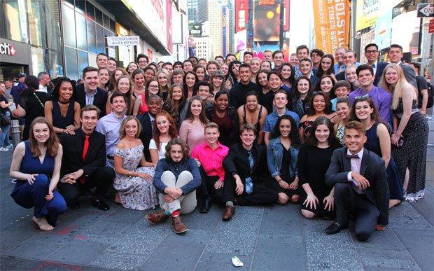 The participants of the 2017 Jimmy Awards, seen above. The Broadway League just announced the date for the 2018 Jimmy Awards.