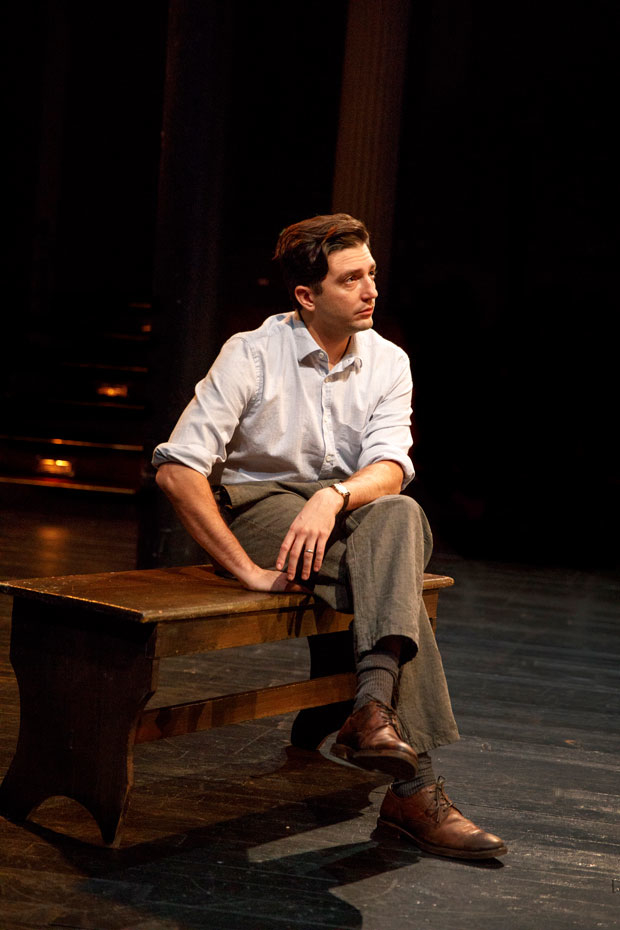 John Magaro in Richard Nelson's Illyria at the Public Theater.