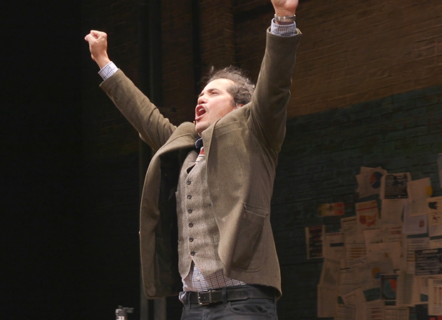 John Leguizamo takes a triumphant curtain call on opening night of Latin History for Morons.