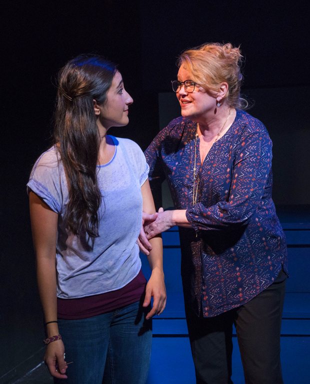 Krystina Alabado plays Samantha Brown, and Leah Hocking plays her mother in The Mad Ones.