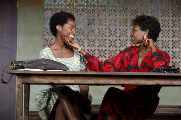 MaameYaa Boafo plays Paulina, and Zainab Jah plays Eloise in School Girls; or, The African Mean Girls Play.
