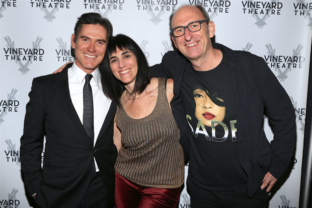 Star Billy Crudup, director Leigh Silverman, and playwright David Cale celebrate opening night.