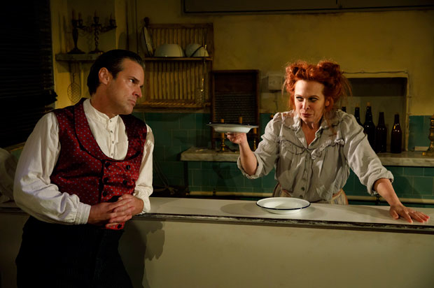 Hugh Panaro and Carolee Carmello in Sweeney Todd.