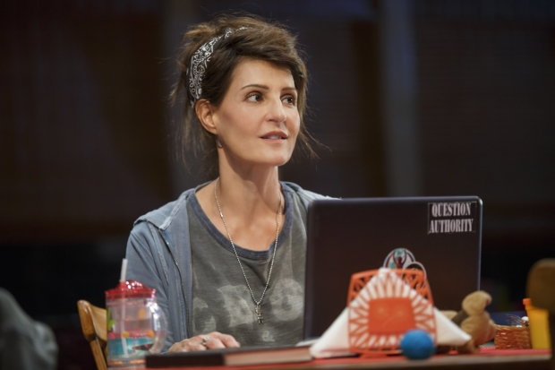 Nia Vardalos adapted and stars in Tiny Beautiful Things, directed by Thomas Kail, at the Public Theater.