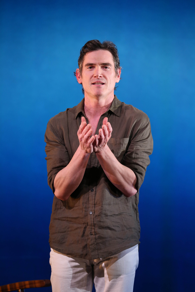 Billy Crudup stars in David Cale's Hary Clarke, directed by Leigh Silverman, at the Vineyard Theatre.