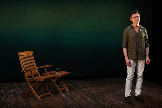 Billy Crudup stands on Alexander Dodge's set for Harry Clarke at the Vineyard Theatre.