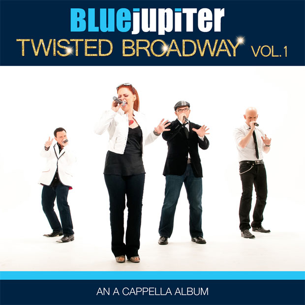 The album cover for Blue Jupiter's Broadway-themed record.
