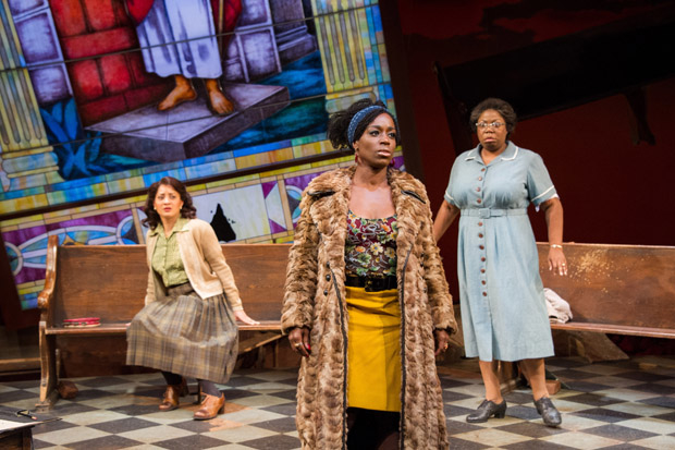 Toni L. Martin as Sephronia, Felicia Curry as Sweet Thing, and Theresa Cunningham as Sarah in Nina Simone: Four Women, directed by Timothy Douglas at Arena Stage.
