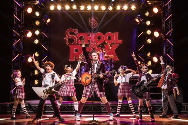 Annabelle Wachtel, Brandon Niederauer, Amadi Chapata, Eric Petersen, Gianna Harris, Rachel Katzke, and Walden Sullivan star in Andrew Lloyd Webber's School of Rock on Broadway.