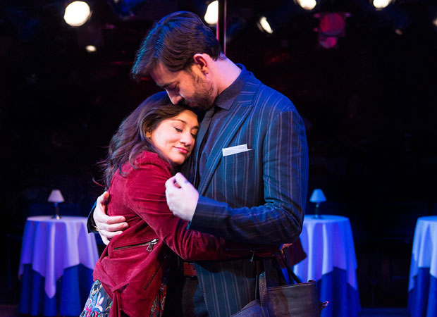 Lucy DeVito and Max Crumm share the stage in Hot Mess.