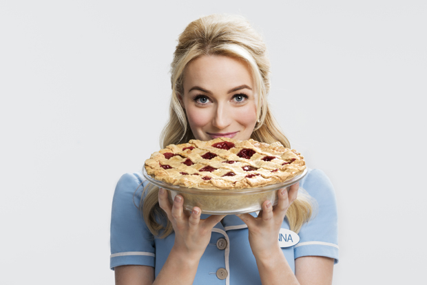 Betsy Wolfe stars as Jenna in Waitress on Broadway.