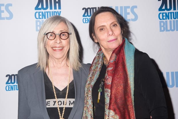 Playwright Susan Miller and director Emily Mann celebrate opening night of 20th Century Blues.