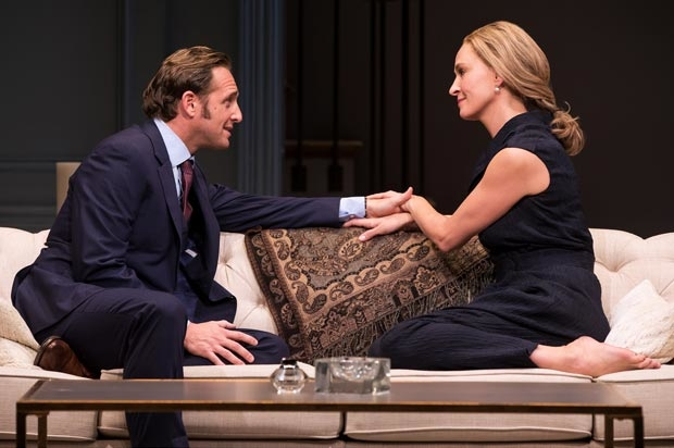 Josh Lucas and Uma Thurman star in The Parisian Woman, directed by Pam MacKinnon, at the Hudson Theatre.