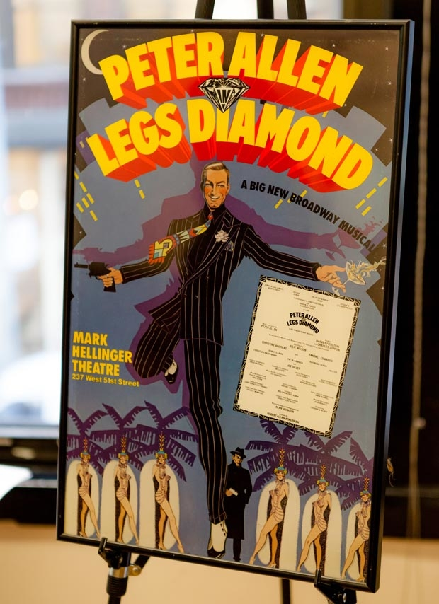 The production's original poster was on display.