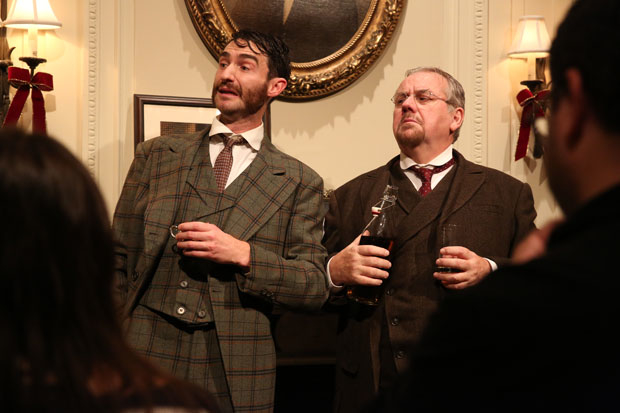 James Russell and Peter Cormican in Irish Rep's The Dead, 1904.