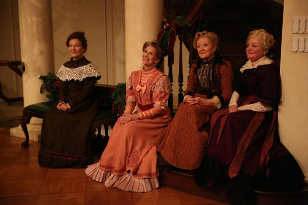 Terry Donnelly, Melissa Gilbert, Patricia Kilgarriff, and Patti Perkins in Irish Repertory Theatre's production of The Dead, 1904, directed by Ciarán O'Reilly, at the American Irish Historical Society.