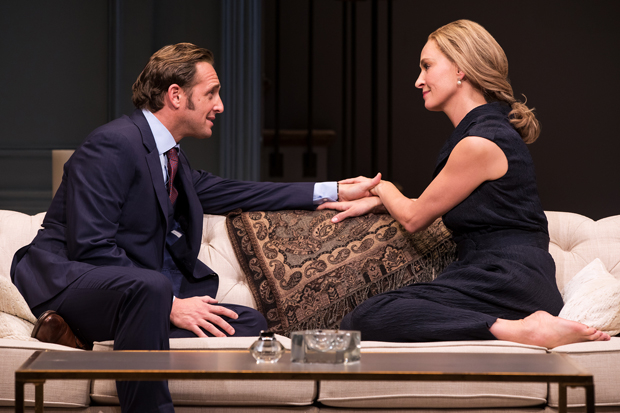 Josh Lucas and Uma Thurman star in Beau Willimon's The Parisian Woman, directed by Pam MacKinnon, at Broadway's Hudson Theatre.