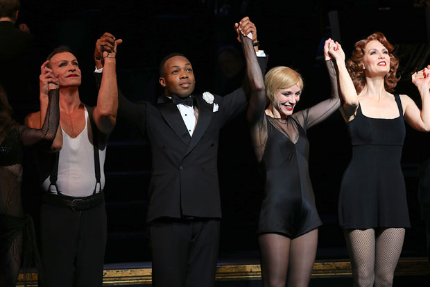 Todrick Hall takes a bow with the cast at curtain call.