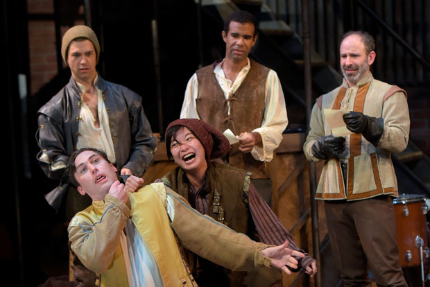 The cast of Shakespeare in Love, directed by Jasson Minadakis, at the Marin Theatre Company.