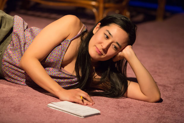 Jennifer Ikeda stars in Today Is My Birthday, directed by Kip Fagan, at the New Ohio Theatre.