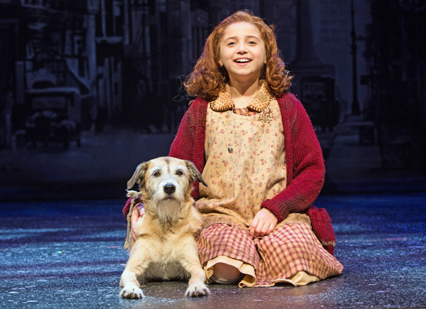 Peyton Ella and Macy as Annie and Sandy at Paper Mill Playhouse.