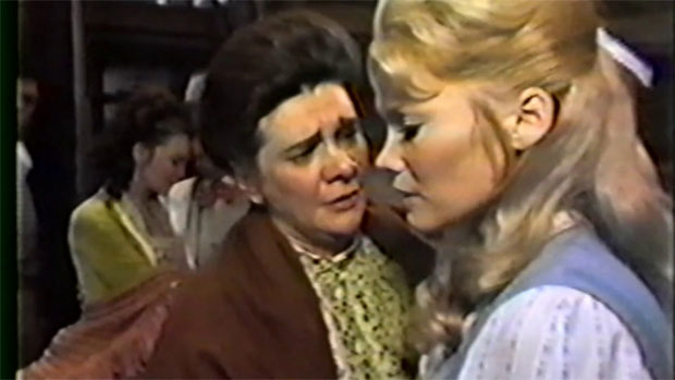 Patricia Neway (Nettie) and Mary Grover (Julie) in the 1967 ABC telecast of Carousel, to be screened at the Paley Center on January 14.