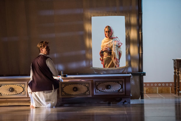 Sébastien Brottet-Michel and Dominique Jambert appear in Théâtre du Soleil's A Room in India, directed by Ariane Mnouchkine, at the Park Avenue Armory.