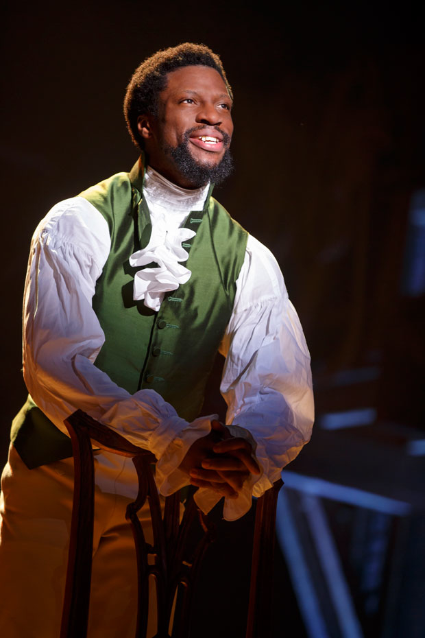 Michael Luwoye as Alexander Hamilton in the touring cast of Lin-Manuel Miranda's hit musical.