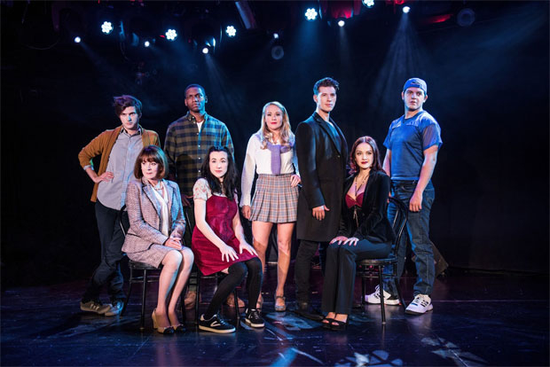 The cast of Cruel Intentions: The Musical, which will now run through February 19, 2018, at (le) Poisson Rouge.