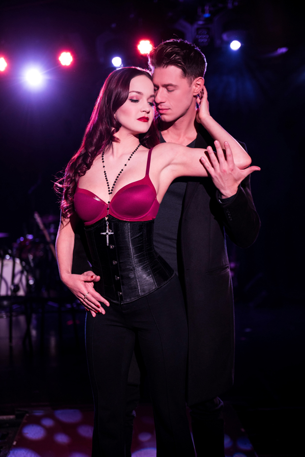 Lauren Zakrin and Constantine Rousouli star in Jordan Ross, Lindsey Rosin, and Roger Kumble's Cruel Intentions: The Musical, directed by Rosin, at (le) Poisson Rouge.