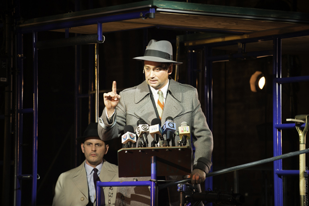 Wayne Wilcox and Constantine Maroulis star in Peter Galperin and Daniel Scot Kadin's Bulldozer: The Ballad of Robert Moses, directed by Karen Carpenter, at Theatre at St. Clement's.