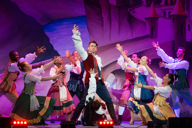James Snyder stars as Gus in Beauty and the Beast - a Christmas Rose, directed by Sheldon Epps, at Pasadena Civic Auditorium.