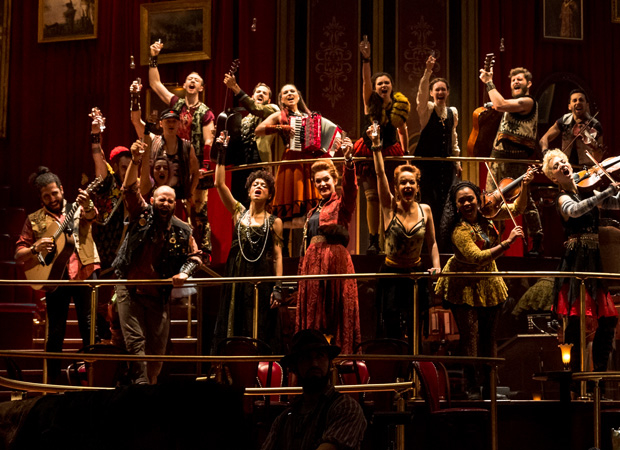 The cast of Natasha, Pierre & The Great Comet of 1812.
