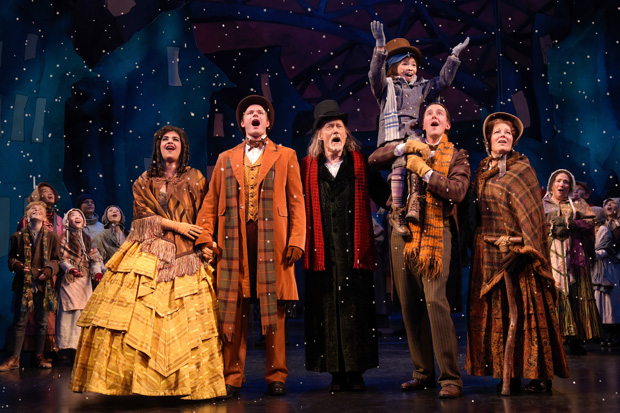 The cast of A Christmas Carol, directed by Carey Perloff and Paul Walsh at A.C.T.'s Geary Theater.